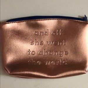 NWoTs Rose gold make up bag by Ipsy
